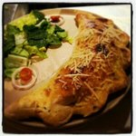 Spicy meat calzone