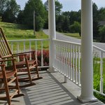 Rocking chairs on the front porch - very relaxing.