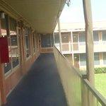 The balcony's