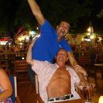 Garden bar on main strip with my Turkish mate the barman