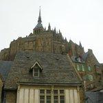Vista desde la base de Mont Saint Michel