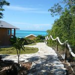 Walkway from bungalows to the beach.