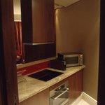 Kitchen area in one bedroom suite