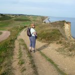 The coastal footpath near Overview Lodge Sheringham