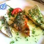 Varied fish in butter and parsley