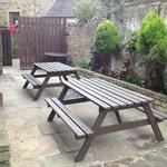 The cosy beer garden/yard