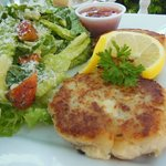 Fish Cakes with Caesar Salad