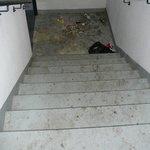 escalier de secours menant au rez-de-chaussée