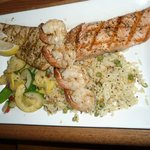 Mixed grill - mahi mahi salmon and shrimp