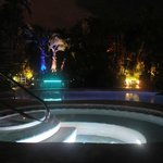 Pool/Hot tub @ night