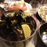 mussels and lobster