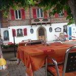 Brienz Steinbock Restaurant - sitting on the terrace