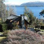 """Vista desde la entrada de la cabaña """"Las Violetas"""""""