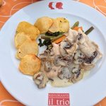 Gorgeous chicken in a mushroom and cream sauce