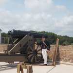 Telling us how the 4-ton cannon was moved to aim each shot