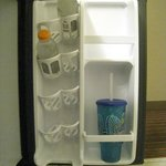 Spacious Refrigerator with built in can & bottle holders