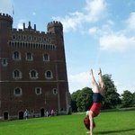 my handstand fun in Tattershall grounds.