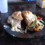 Brandon's Cordon Bleu sandwich is Amazing!