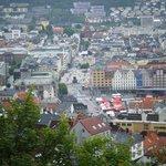 Vista panoràmica de Bergen desde Mount Fløien