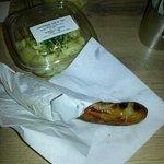 Potato salad and sausage