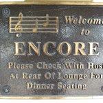 Encore plaque