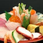 Chirashi Sushi - Raw fish combination
