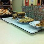 L-R: Macaroon's, ChocChip Cookies, Blueberry Pie, Apple Pie