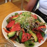 great greens with Avocado salad