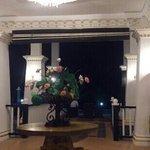 areal lobby at night