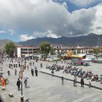 View of Jokhang Plaza from the restaurant