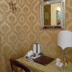 Detalhe da decoração de um quarto duplo