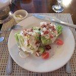Iceberg Wedge Salad in the restaurant at the Inn.