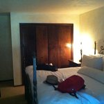 refurbished room with kimg size bed
