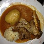 lamb kleftico with potato and rice