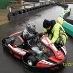 Grandson Jamie first time in a kart