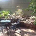 Villa 5 private yard and gardens.