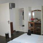 Our Bedroom with door open to next room in the suite