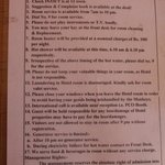 These are the room rules. #12 was funny :-) but the ones about getting hot water are a warning s