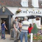 Outside the Village Inn
