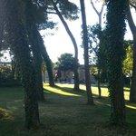 Vue de la Piscine depuis le Parc