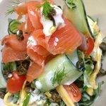 Marinated Smoked Salmon Salad