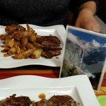 Nos plats : duo de canard et côtelettes d'agneau