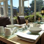Breakast table and garden on the background.... thanks to sunny Sussex :)