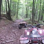 One of the many trails for ATV riding.