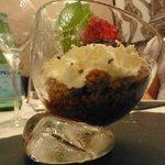 marmelade poivron framboise, crumble speculoos