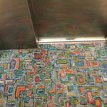 Stylish carpet in the lift