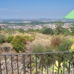 Il panorama su Lentini ed il suo lago