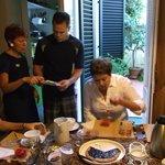 Donatella assisting over Breakfast