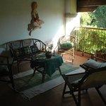 salotto in veranda coperta