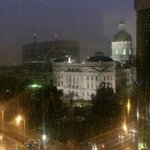 Indianpolis on a rainy summer night.